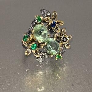 Image 2 - Dreamcarnival Hot Selling Prachtige Cz Ring Voor Vrouwen Engagement Party Vintage Bloem Opvallende Olivijn Zirkoon Sieraden WA11688