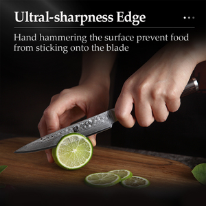 Image 5 - XINZUO 5 inch Utility Knife Damascus Steel Kitchen Knives Professional Stainless Steel Table Paring Knife Pakka Wood Handle