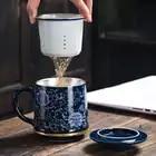 Jingdezhen 999 argent thé tasse émail en céramique café tasses Vintage tasse bureau maître eau tasses artisanat Collection comme cadeau de noël - 3