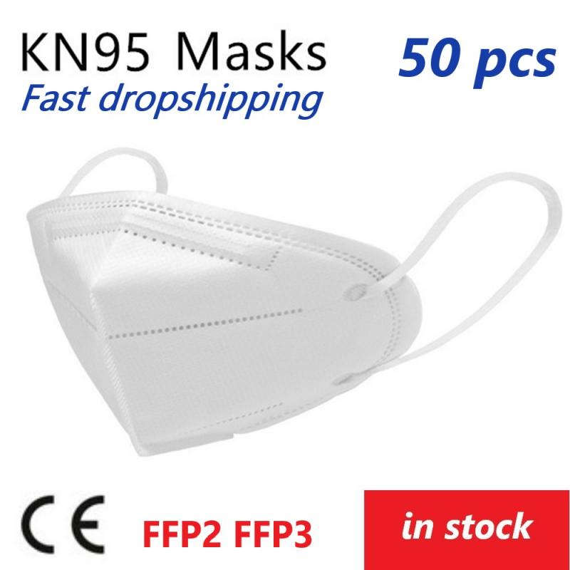 Disposable KN95 Protective Mask Dustproof N95 Mask FFP3 FFP2 Anti-fog Transmission 95% Filtration 6-layer Mouth Muffle Cover