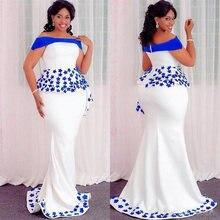 Новые синие вечерние платья с аппликацией 2021 abiye Русалка