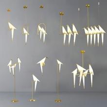 Nordic Bird LED Pendant Lights Origami Crane Bird Pendant La