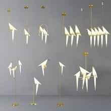 الشمال الطيور قلادة led أضواء اوريغامي رافعة قلادة على شكل طير مصباح غرفة نوم غرفة المعيشة الطعام داخلي ديكور المنزل المطبخ تركيبات