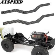 AXSPEED – châssis de cadre latéral de voiture RC, Rails de châssis en Fiber de carbone pour 1:24 SCX24 90081 RC pièces de mise à niveau