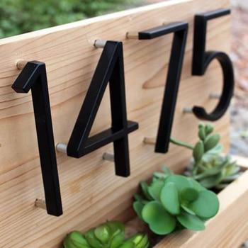 127mm Floating House Number Letters Big Modern Door Alphabet Home Outdoor 5 In.Black Numbers Address Plaque Dash Slash Sign #0-9
