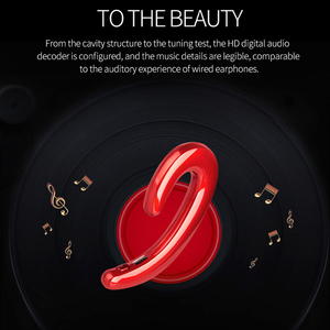 Image 5 - New Ultralight Bone Conduction Bluetooth 4.1 Earphone Painless Wear Ear Pods Ports  Gaming Headset for Iphone Android Samsung