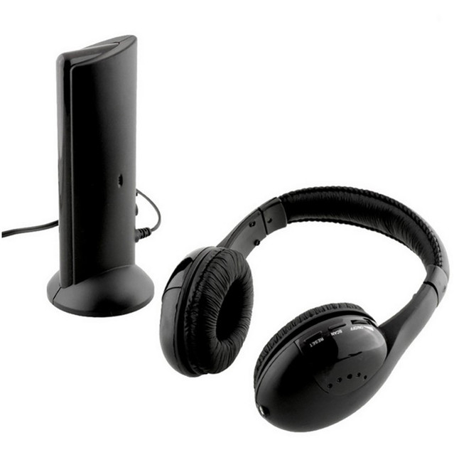CARPRIE Wireless Earphones Wireless Bluetooth Headset Portable Cordless Headphone  with MIC for FM Radio PC Laptop TV FM MP3 4