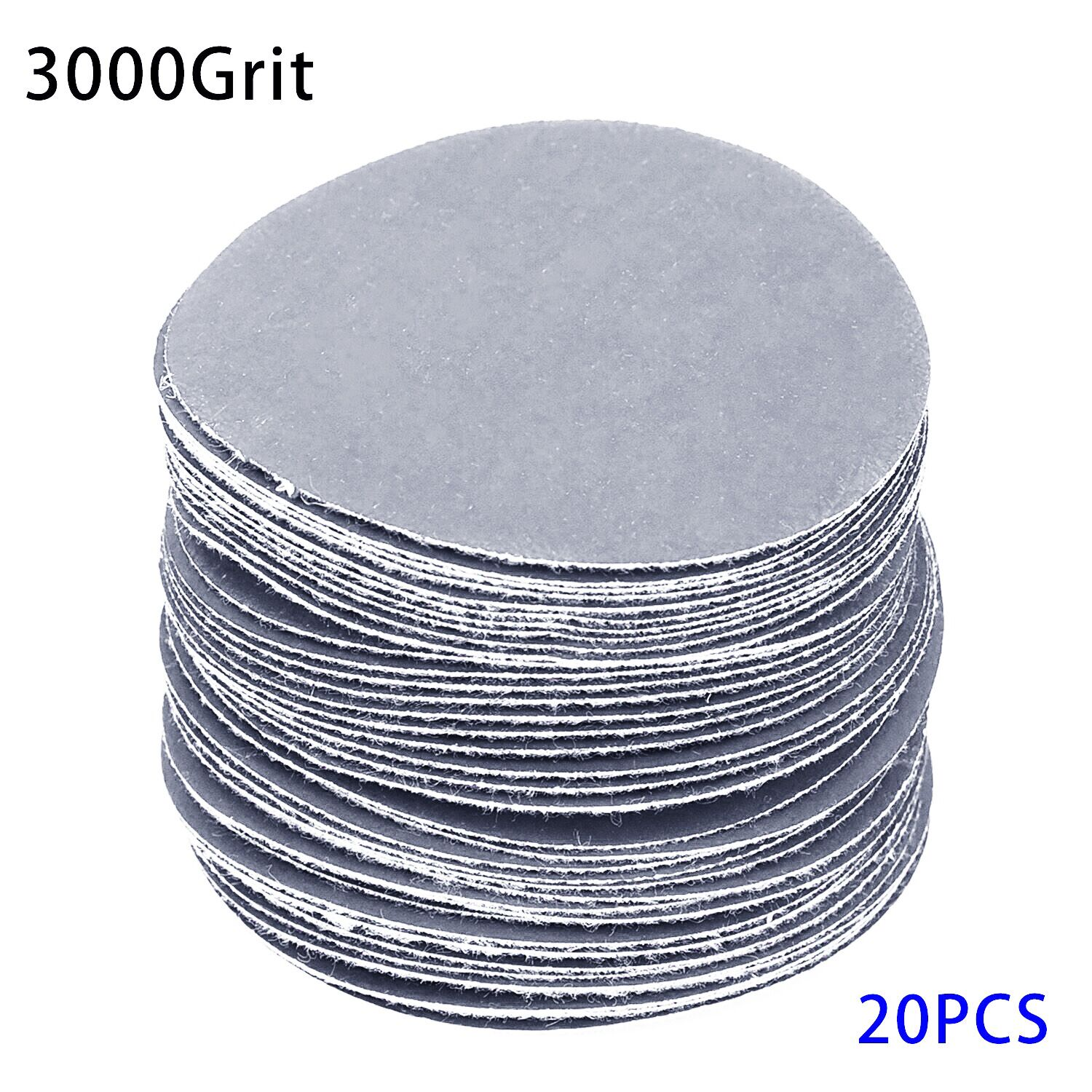 20pcs/Set 75mm 40-3000 Grits Wet Dry Sandpapers Adhesive Loop Backing Sander Grinder Discs Replacement Abrasive Tools