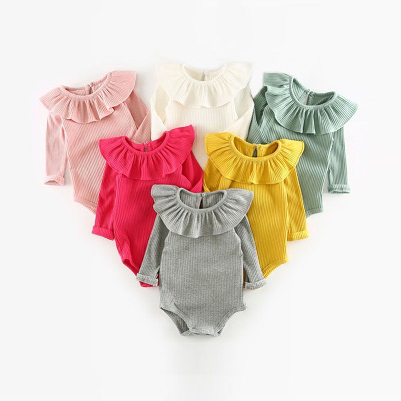 Korean Newborn Baby Clothes For Girls Baby Girl Rompers Fashion Spring Long Sleeve Kids Boys Jumpsuit Baby Girls Outfits Clothes