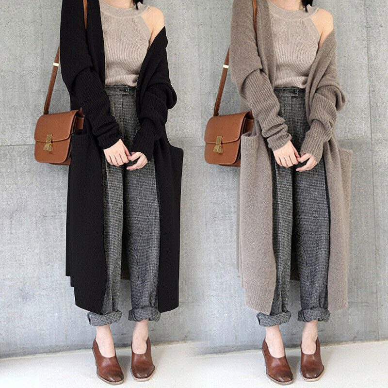 Women Winter Warm Knitted Cardigan Long Sweater Stretch Coat Outerwear Womens Winter Coats 2020 Fashion Sweater Women Pull Femme