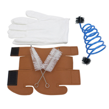 3 In 1 Trumpet Accessory Kit  Trumpet Gloves Cleaning Protective Cover Case Woodwind Instruments Parts Accessories 20pcs lot dangle ancient silver owl charm big hole beads fit european charm bracelet jewelry 12x34mm a 229a