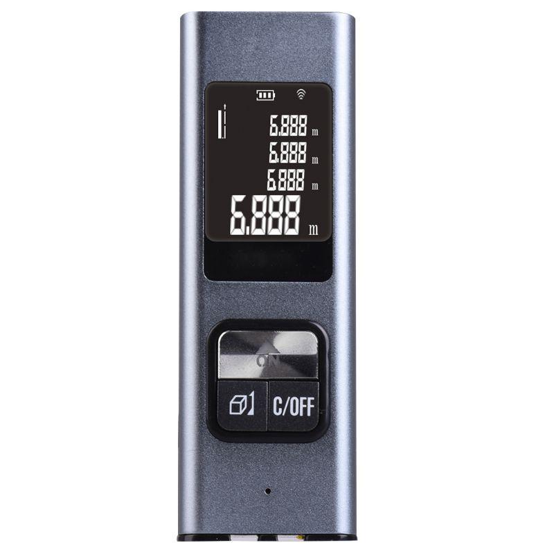 Tragbare Mini USB Aufladbare Digitalen Metall Laser Abstand Meter Entfernungsmesser 40M Hohe Genauigkeit Handheld Palette Finder
