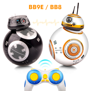 Intelligent Star Wars Upgrade RC BB8 Robot With Music Sound Action Figure Gift Toys Ball BB-8 2.4G Remote Control Robot For Kids(China)