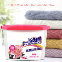500ml Rose Mini Dehumidifier For Home Wardrobe Clothes Dryer with Desiccant Air Dryer Moisture Absorbent Box 500ml home air dehumidifier semiconductor desiccant moisture absorbing mini air dryer machine intelligent dehumidizer