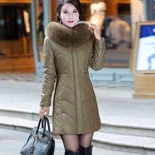 Coat Faux-Sheepskin Women Jacket New Winter Fur Hooded L-8XL Tops Warm-Fur-Collar Female