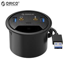 ORICO masaüstü Grommet USB 3.0 HUB tip-c ses bağlantı noktası masa dağı Dongle Splitter çok fonksiyonlu güç masa montaj adaptörü