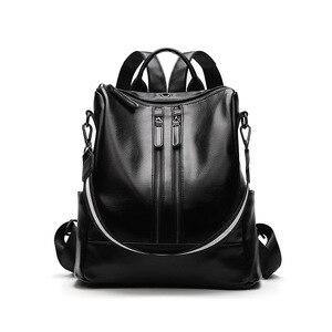 Image 4 - 2019 Vintage Bayan Sırt Çantası Yüksek Kaliteli Gençlik Deri gençler için sırt çantaları Kızlar Kadın Okul omuzdan askili çanta Sırt Çantası mochila