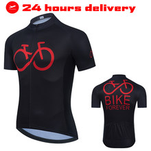 Men Cycling Jersey 2021 Short Sleeve MTB Road Bike Jersey Stripes Breathable Mountain Bicycle Jersey Maillot Ciclismo