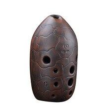 Китайский древние времена стиль Окарины музыкальный инструмент профессионального 10 отверстий двухслойная глины Сюнь