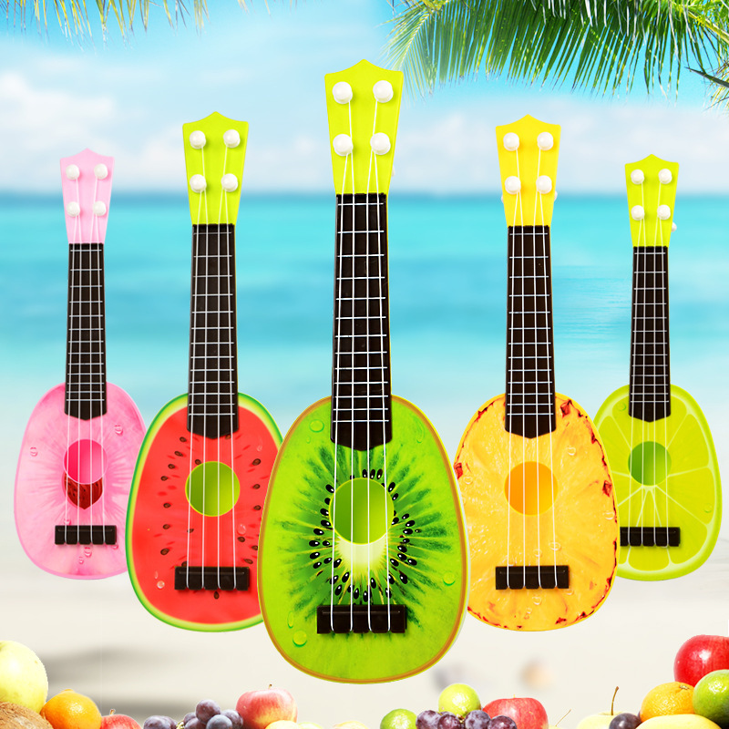Baby Children's Educational Musical Instrument Toy Guitar Wholesale Fruit Guitar Mini Play Ukri Trumpet