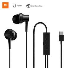 Original Xiaomi ANC Kopfhörer Typ C Noise Cancelling Kopfhörer Wired Steuerung Mit MIC Für Xiaomi Max 2 Mi6 Smartphone hybrid HD