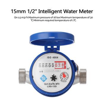 Inteligentny miernik wody gospodarstwa domowego mechaniczny typ wirnika wskaźnik zimnej wody wskaźnik cyfrowy wyświetlacz wodomierze tanie i dobre opinie meterk hydrauliczny 15mm 1 2