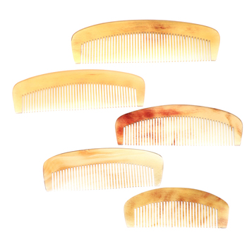 1 Pc 5 Sizes Hairdressing Barber Tool Natural Amber Ox Horn Comb of Hair No Static Health Care Hair Brush Length 10-16cm