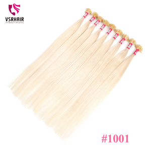 VSR Flat Tip 20 Inches 50 100 Strands 100% Human Fusion Hair Machine Rem Double Drawn Keratin Hair Extensions