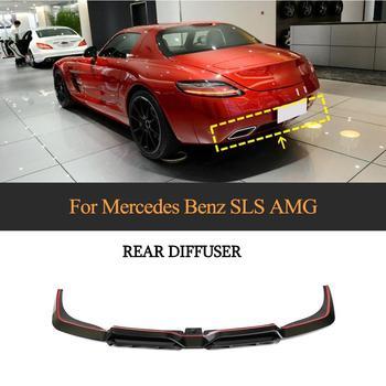 SLS63 Carbon Fiber Rear Bumper Diffuser Lip Spoiler for Mercedes-Benz SLS Class SLS63 AMG 2010-2013 Car Spoiler
