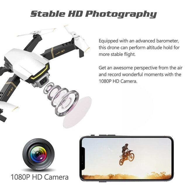 Selfie Drone Profissional Camera Quadrocopter FPV Dron RC Helicopter Mini Drone X Pro Drones with Camera HD VS GD89 XS809HW E58 2