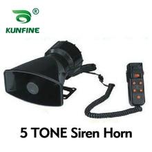 12V 100W Car Waring Horn 5 Model 5 Tone Car Siren Horn Car Speaker Horn Car Police Alarm Whistle Whee with Loudspeaker