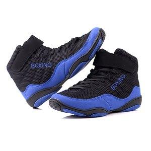 Мужская профессиональная обувь для бокса, для борьбы с боевым весом, для подъема, Мужская мягкая дышащая износостойкая спортивная обувь для...