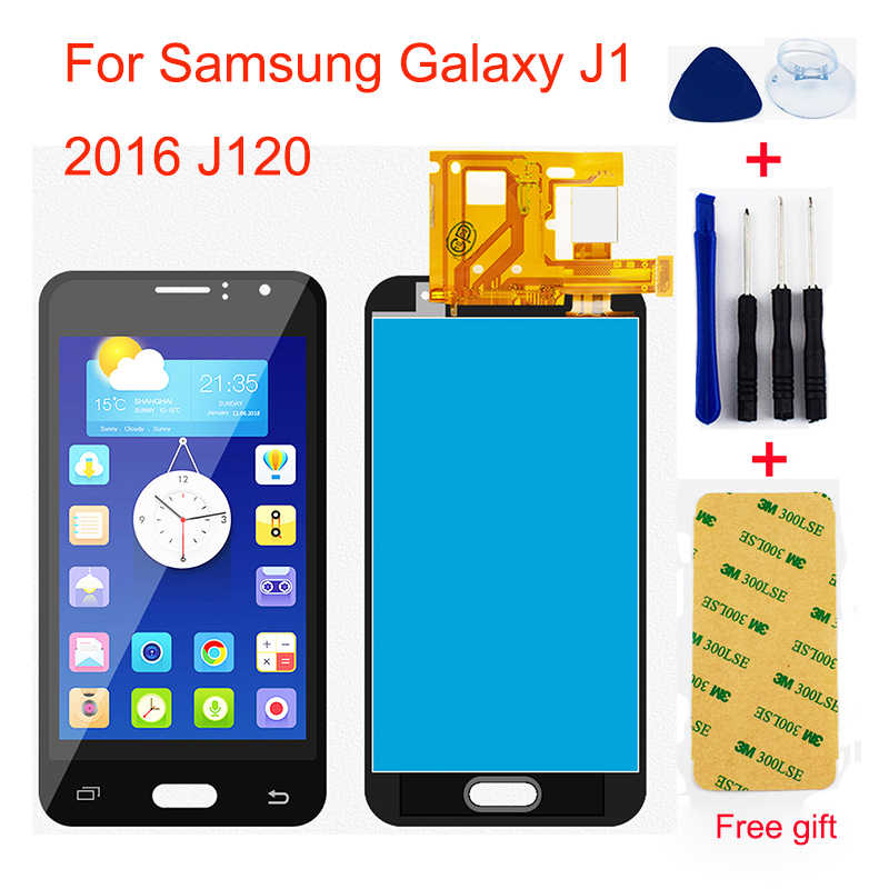 لسامسونج غالاكسي J1 2016 J120 J120A J120F J120M J120FN محول الأرقام بشاشة تعمل بلمس الاستشعار + جهاز مراقبة بشاشة إل سي دي الجمعية
