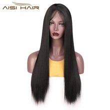 Парик aisi hair на сетке спереди 13x4 длинные прямые парики