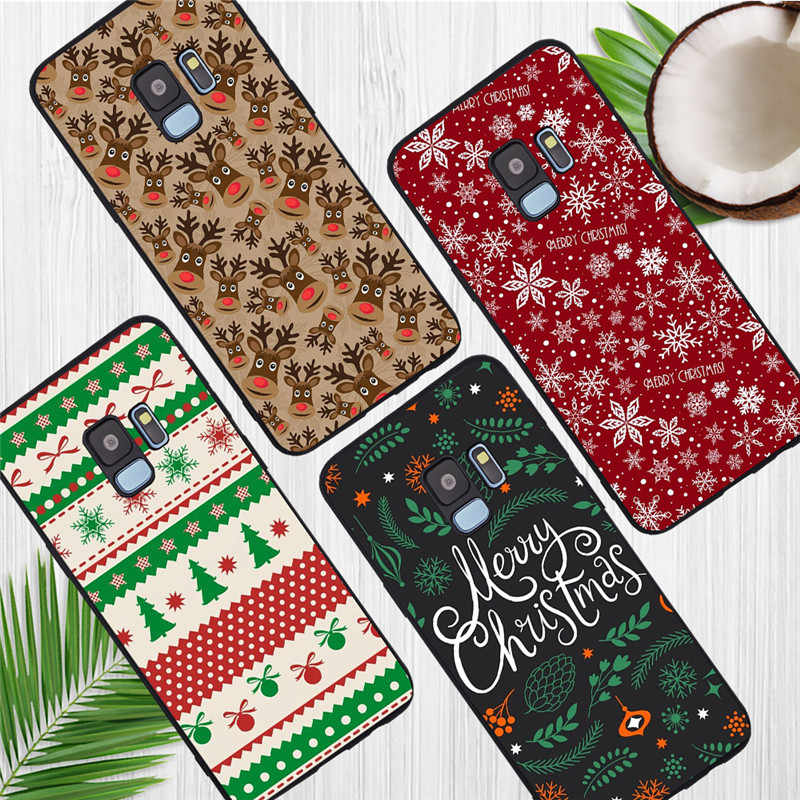 christmas gift For Samsung Galaxy S6 S7 Edge S8 S9 S10 Plus Lite Note 8 9 10 A30 A40 A50 A60 A70 M10 M20 phone Case Cover funda