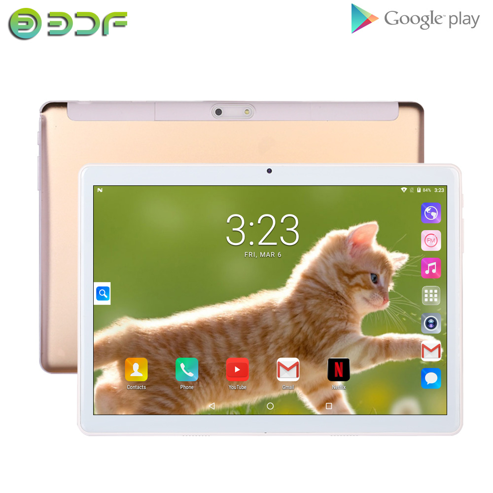 Tablet 10.1 Inch Android 7.0 Quad Core 1GB+32GB GPS Pad 10 Inch Tab 3G SIM Card Phone Call Kids Tablet IPS Screen Pc WiFi