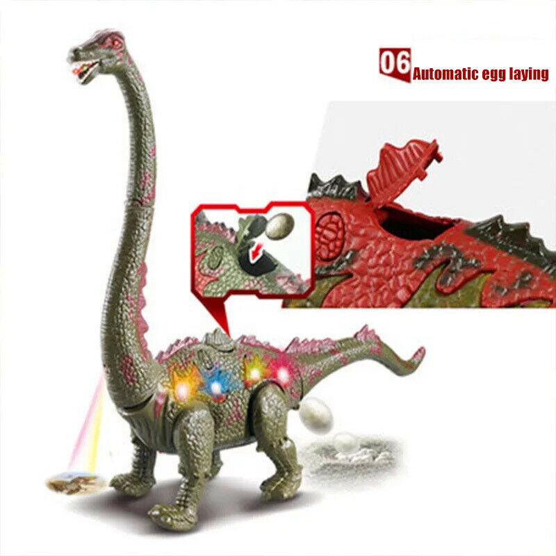 Lay Egg Dinosaur Electric Dinosaur Walk Long-necked Animal Model Toys US  With Light Sound For Kids Baby Toys Christmas Gift