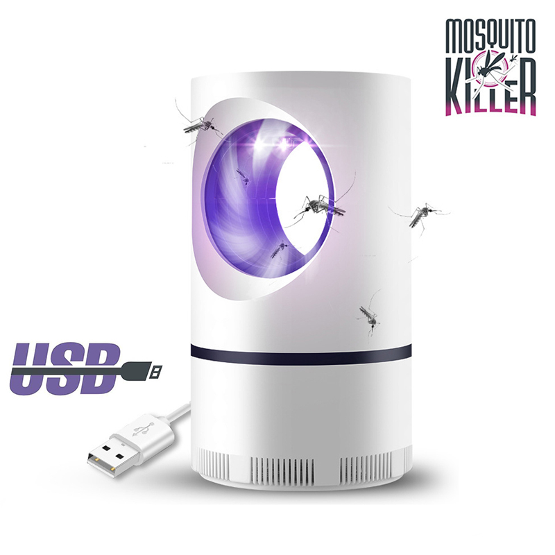 Mosquito And Flies Killer Trap - Suction Fan, No Zapper, Child Safe - Suitable For Outdoor,Indoor