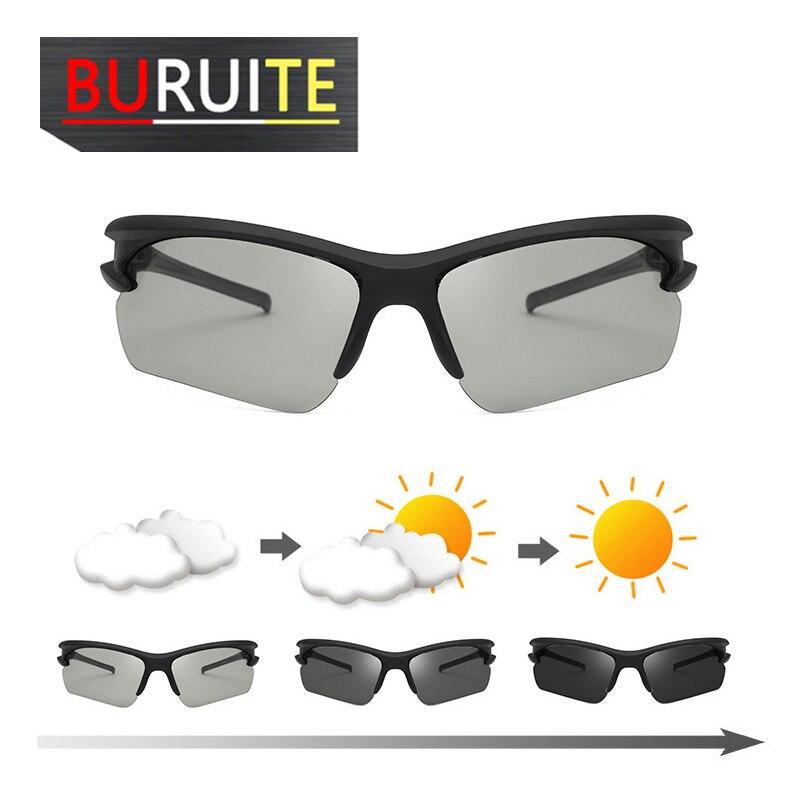 Outdoor Sports Color Changing Polarized Sunglasses Photosensitive Light Gray Dark Gray Sun Glasses Male Glasses