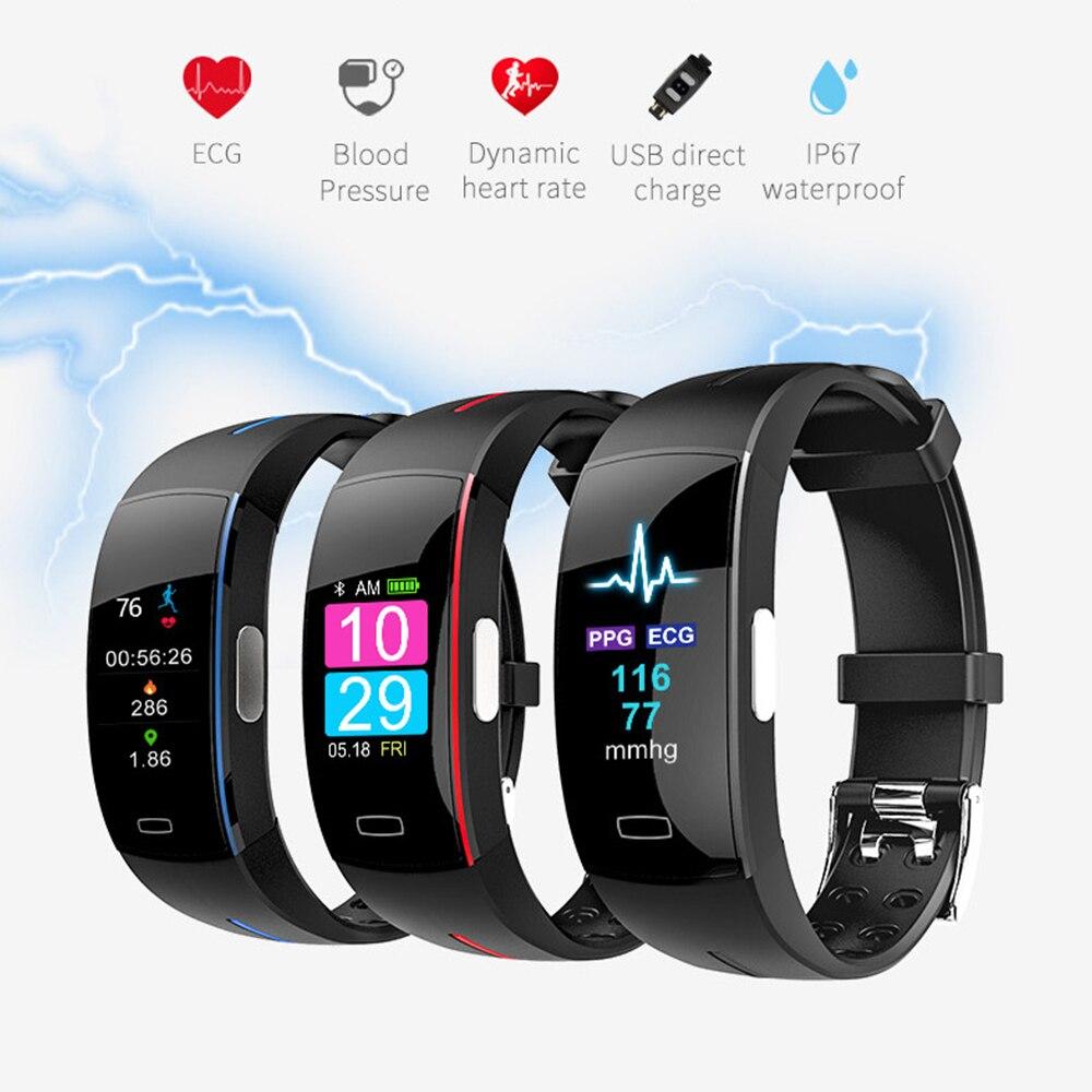 P3 Bracelet intelligent ECG + PPG pression artérielle fréquence cardiaque montre intelligente hommes Bracelet intelligent Fitness Tracker bande intelligente smartwatch