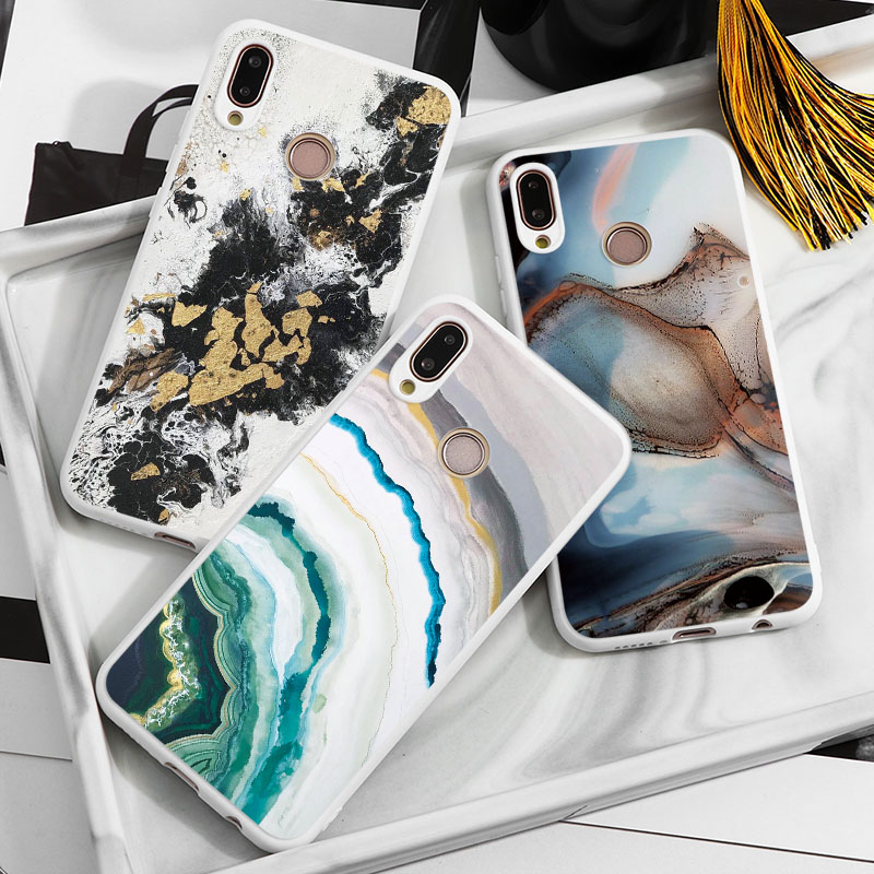 Case For <font><b>Huawei</b></font> P20 P10 P30 P Smart <font><b>Y6</b></font> Y7 Y9 Pro Prime Lite <font><b>2019</b></font> 2018 Cover For <font><b>Huawei</b></font> Mate 30 10 20 Lite Pro Special Marble TPU image