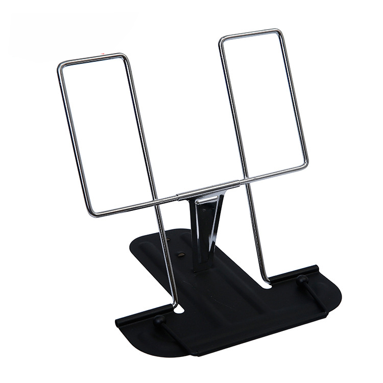 1pc Portable Foldable Adjustable Bookend Stand Reading Book Stand Document Holder Base Reading Book Shelf Bookend Reading