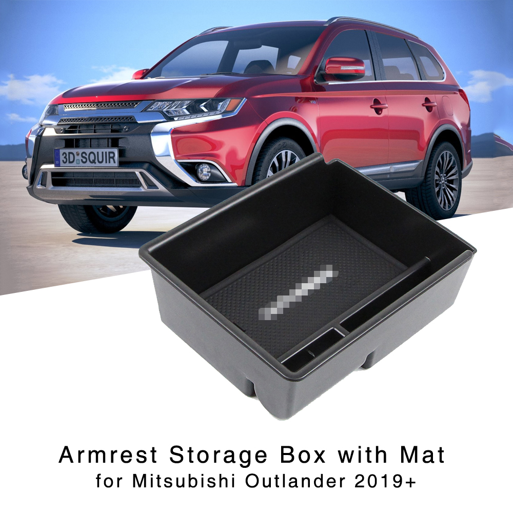 Armrest Storage Box Holder For Mitsubishi Outlander 2019+ Interior Organizer Central Console Glove Tray