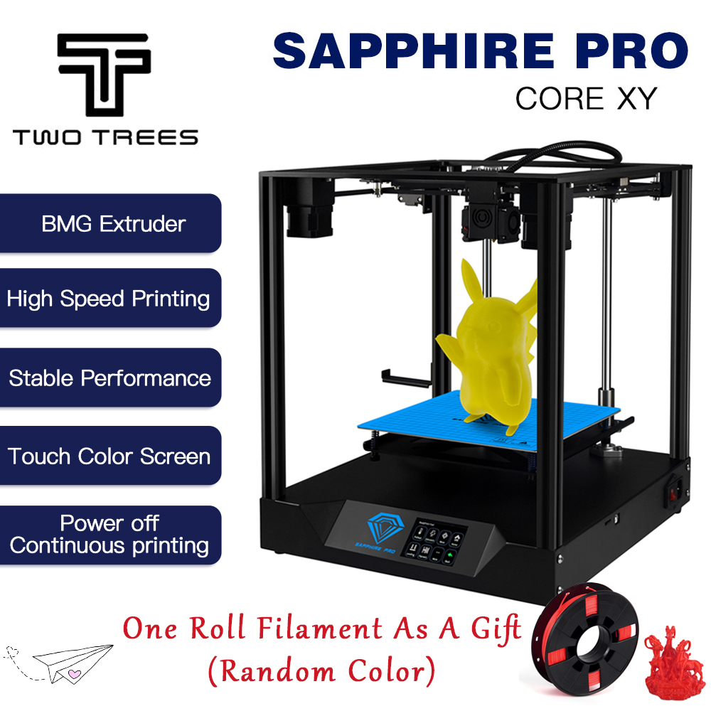 Image 5 - TWO TREES 3D Printer Sapphire pro CoreXY BMG Extruder Core xy High precision  3d DIY Kits 3.5 inch touch screen MKS  facesheild3D Printers   -