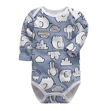Newborn Bodysuit Baby Boys Girls Clothing Long Sleeve 3 6 9 12 18 24 Months Infa