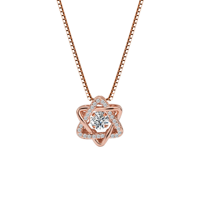 925 Sliver Color Necklace Manstar Diamond Pendant For Women Colgante De Ley 925 Mujer Bizuteria Wedding Necklace Pendant Jewelry