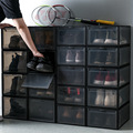 Transparent Shoes Box Sneaker Basketball Shoes Storage Box Plastic Collection Sundries Cabinet Dustproof Shoe Storage Organizer
