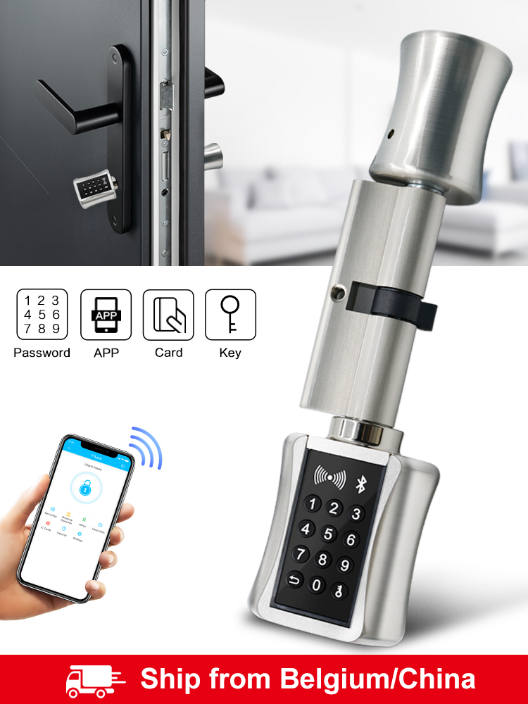 Lock Door-Lock-App Smart-Cylinder Code Bluetooh RFID Digital Keyless Electronic Home