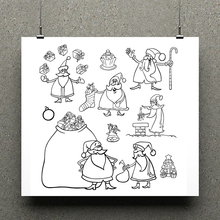 AZSG Santa Claus Clear Stamps/seal for DIY Scrapbooking/Card Making/Photo Album Decoration Supplies
