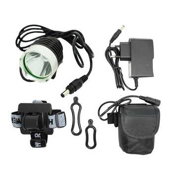 Waterproof XM-L T6 LED Bicycle Light Front Lamp 1800lm Bike Headlight Cycling Flashlight + 8.4V 18650 Battery Pack + Charger